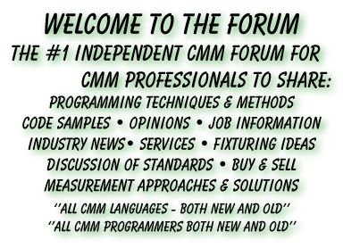 Welcome to the CMMGuys Forum. Where CMM Professionals meet.